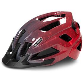 Cube Steep Helmet glossy grey'n'red